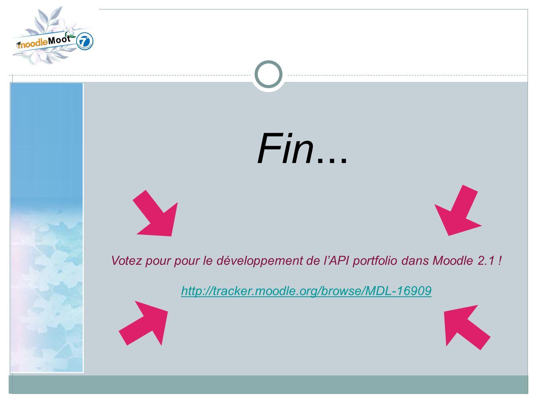 Votez pour pour le développement de l'API portfolio dans Moodle 2.1 !