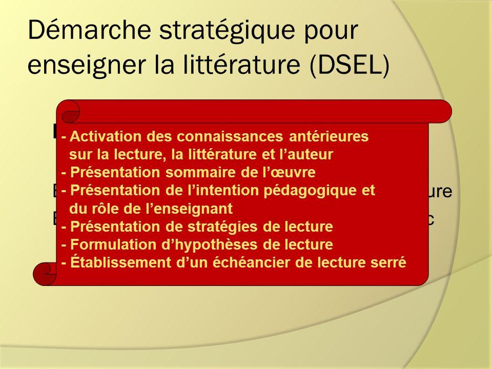 Démarche stratégique pour enseigner la littérature (DSEL)