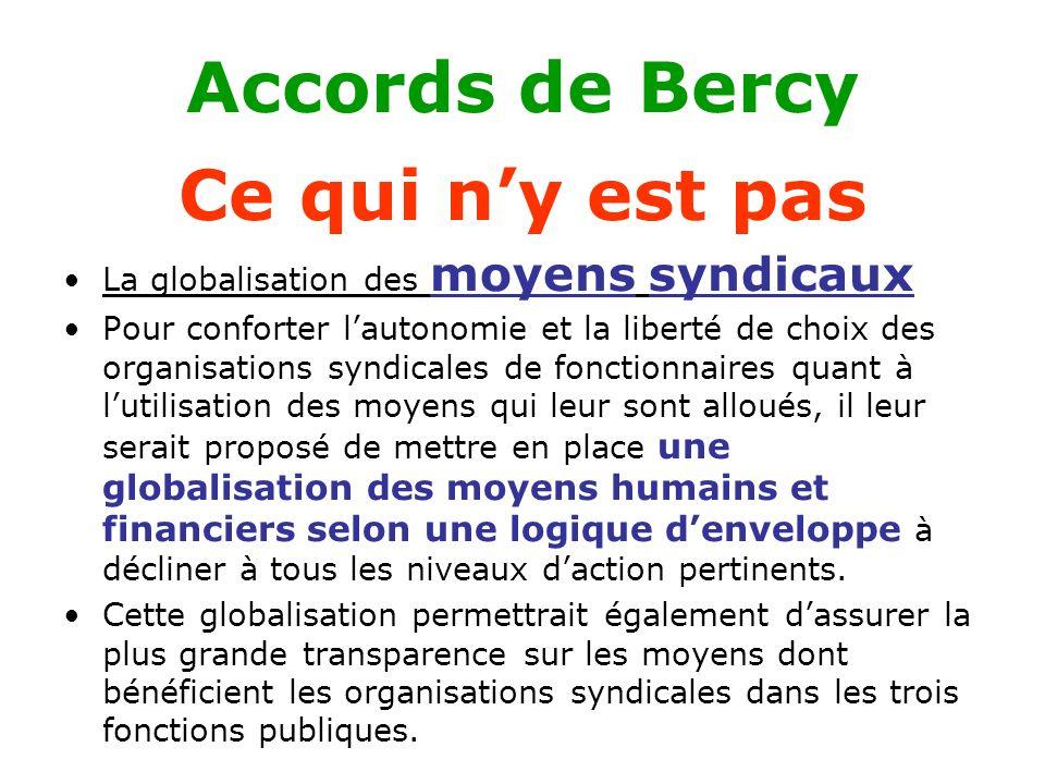 Accords de Bercy Ce qui n'y est pas