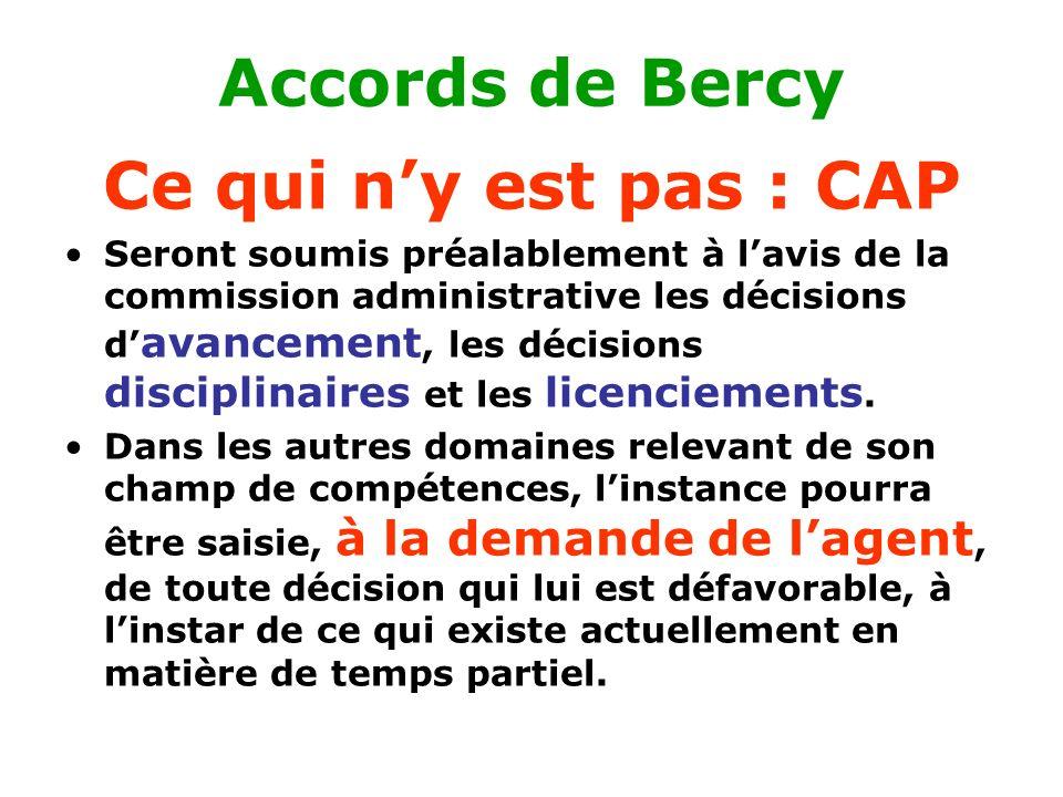 Accords de Bercy Ce qui n'y est pas : CAP