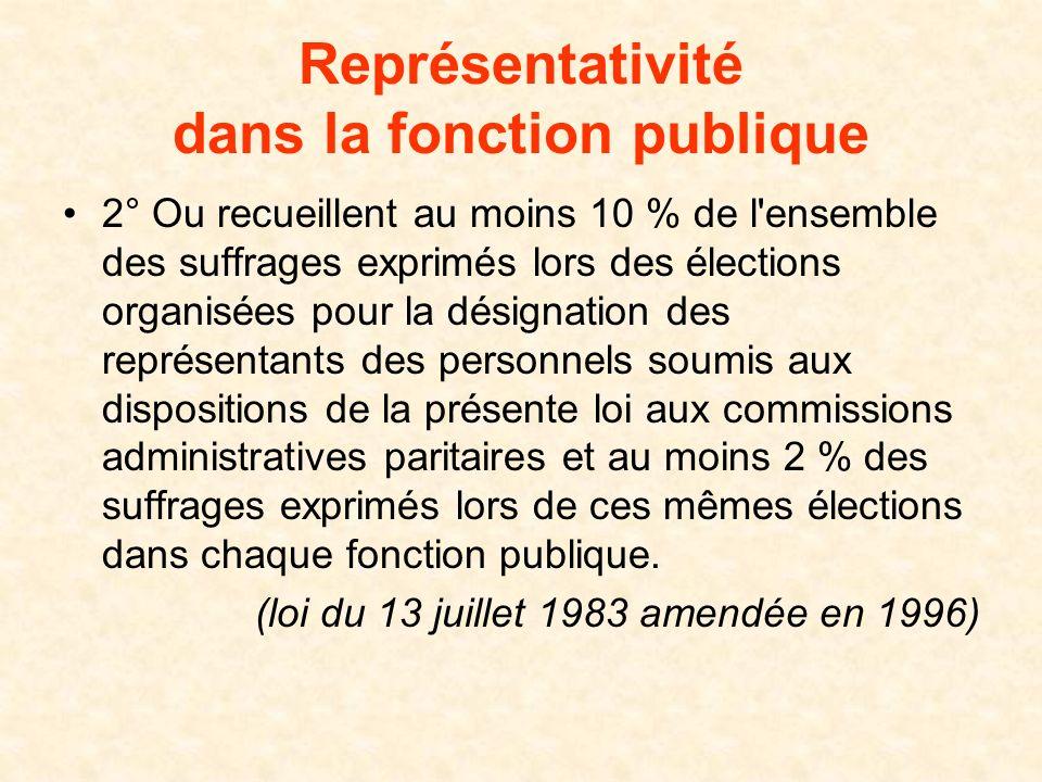 Représentativité dans la fonction publique