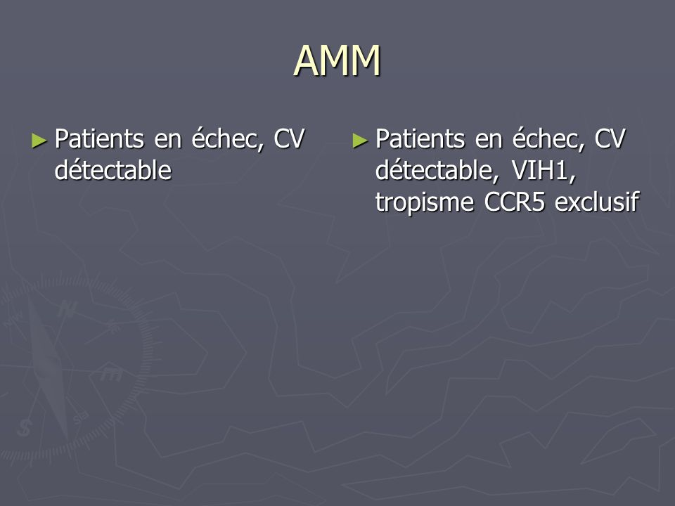 AMM Patients en échec, CV détectable
