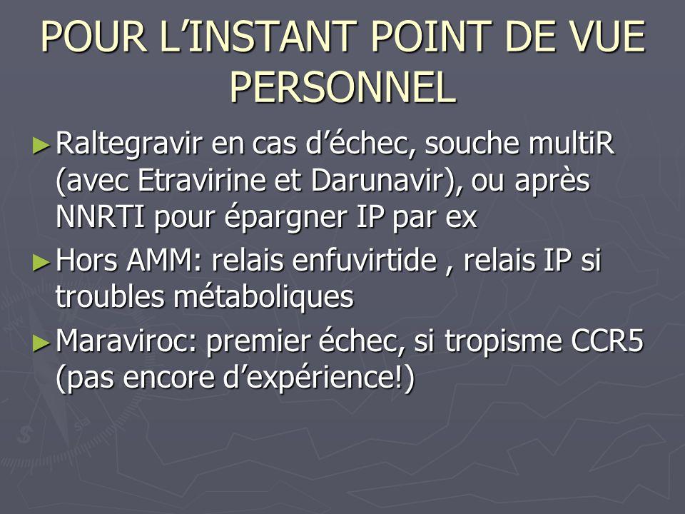 POUR L'INSTANT POINT DE VUE PERSONNEL