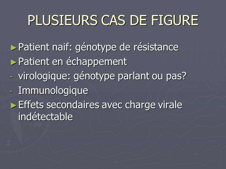 PLUSIEURS CAS DE FIGURE