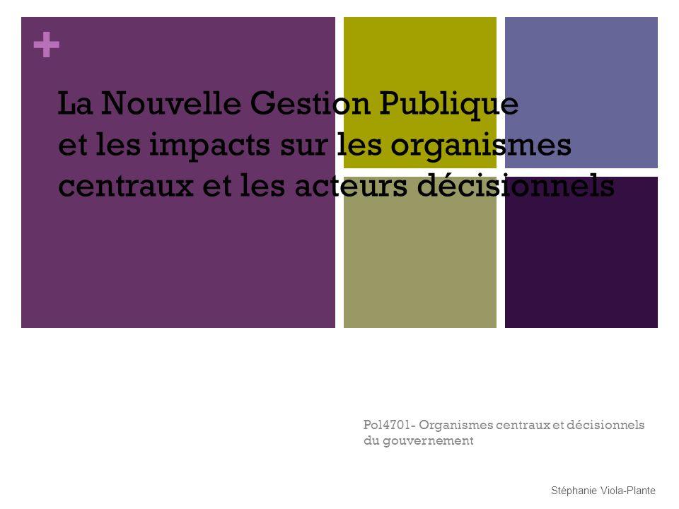 Pol4701- Organismes centraux et décisionnels du gouvernement