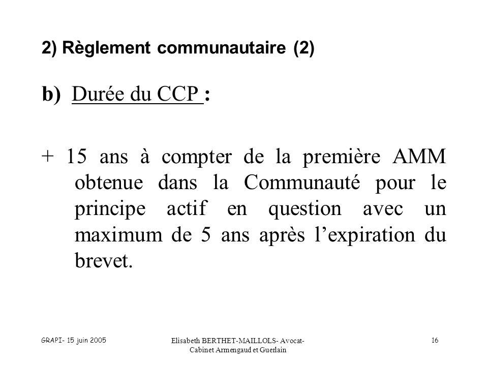 2) Règlement communautaire (2)