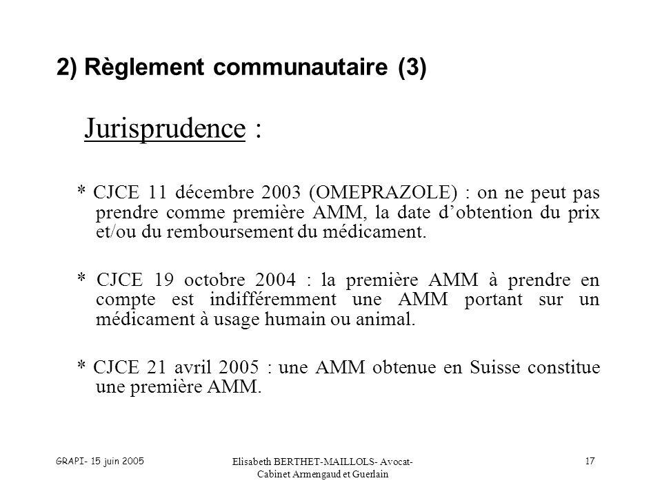 2) Règlement communautaire (3)