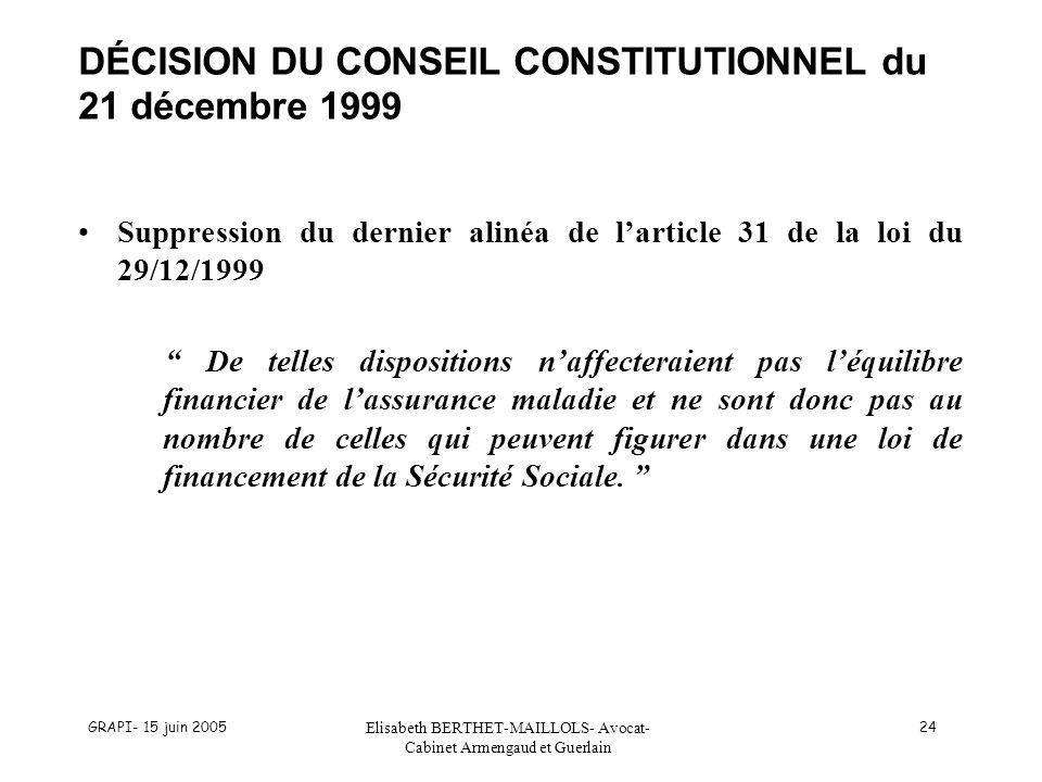 DÉCISION DU CONSEIL CONSTITUTIONNEL du 21 décembre 1999