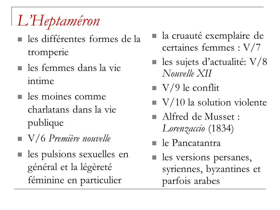 L'Heptaméron la cruauté exemplaire de certaines femmes : V/7
