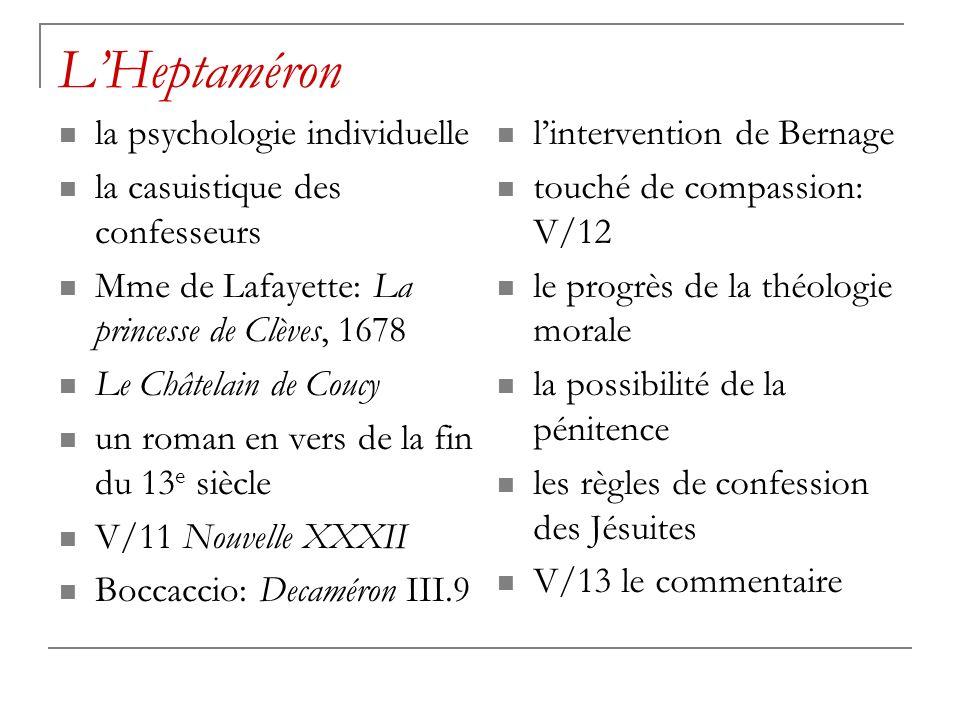 L'Heptaméron la psychologie individuelle