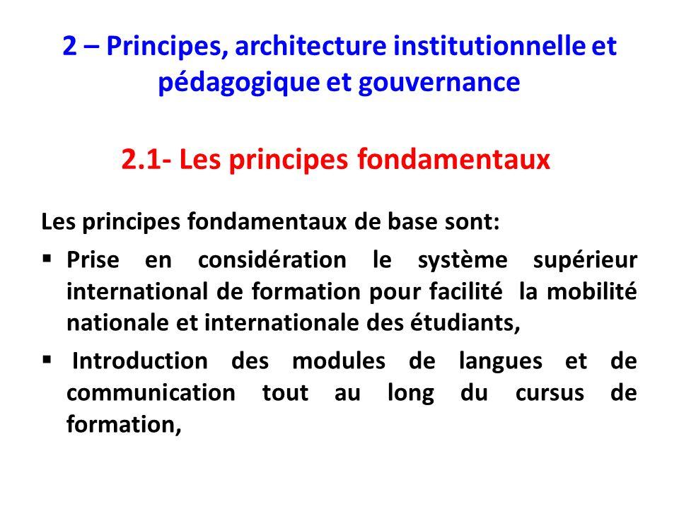 2.1- Les principes fondamentaux