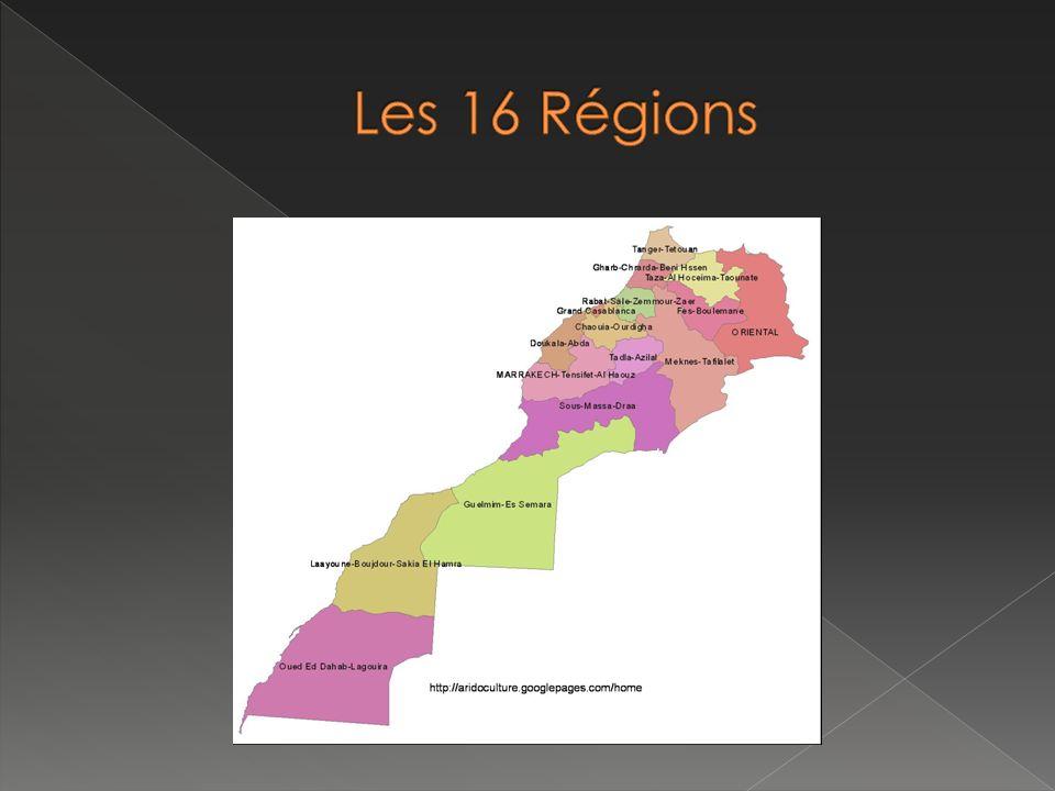 Les 16 Régions