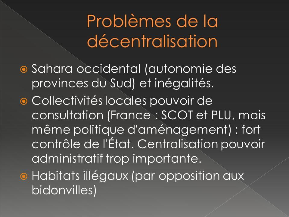 Problèmes de la décentralisation