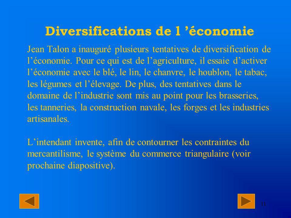 Diversifications de l 'économie