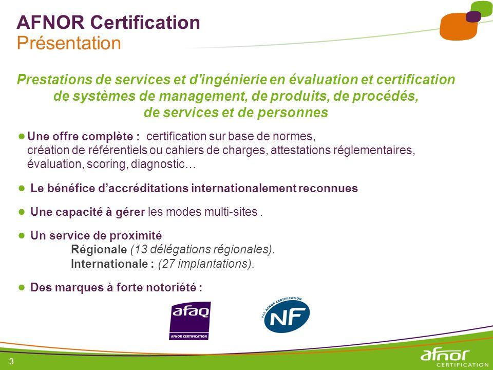 AFNOR Certification Présentation
