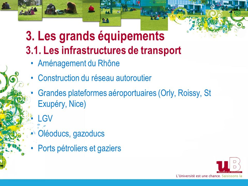 3. Les grands équipements 3.1. Les infrastructures de transport