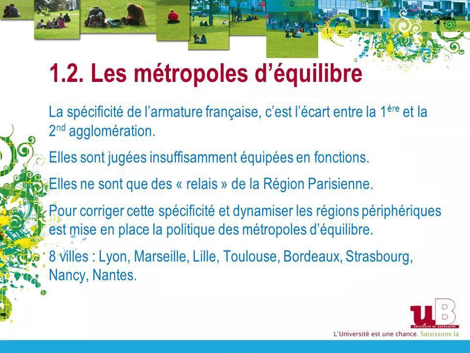 1.2. Les métropoles d'équilibre