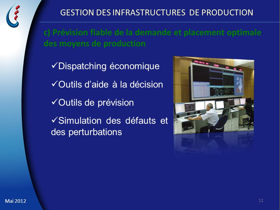 GESTION DES INFRASTRUCTURES DE PRODUCTION