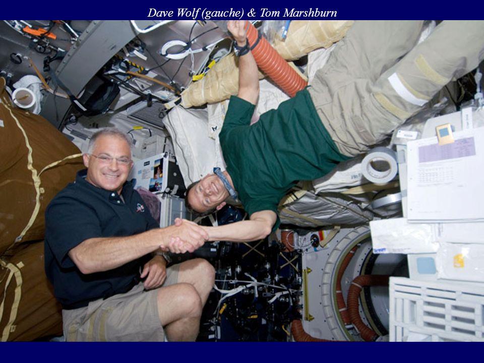 Dave Wolf (gauche) & Tom Marshburn