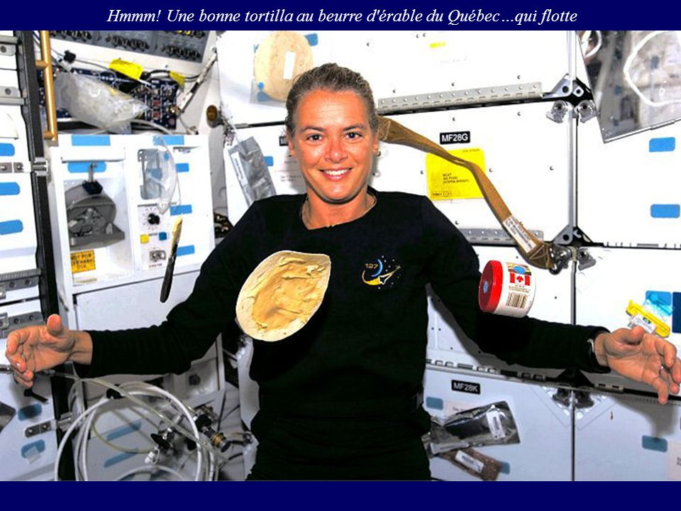 Hmmm! Une bonne tortilla au beurre d érable du Québec…qui flotte