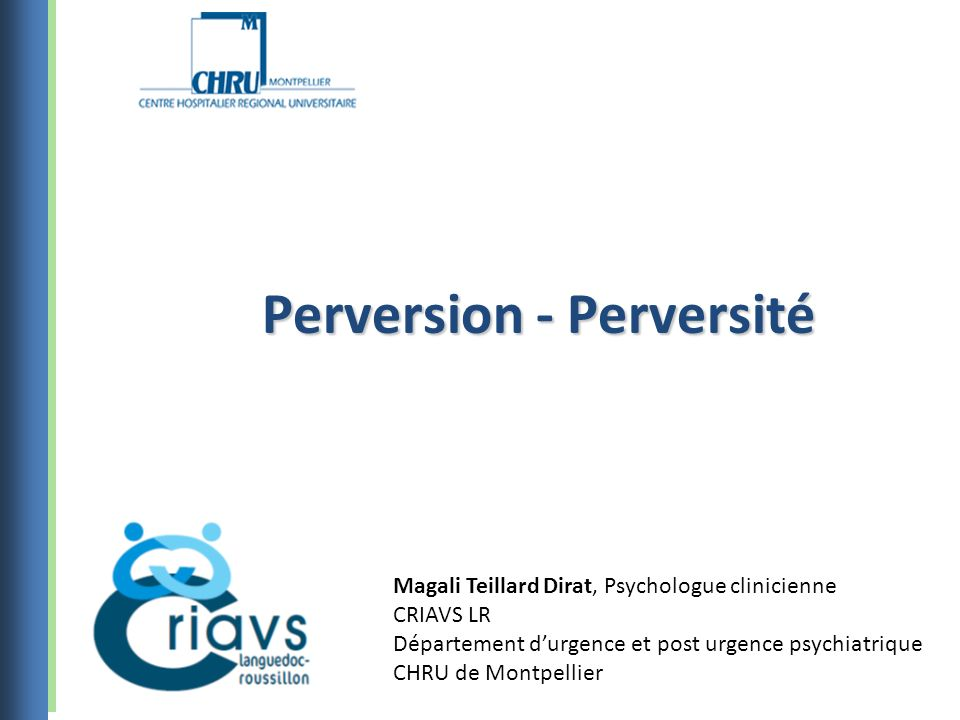 Perversion - Perversité