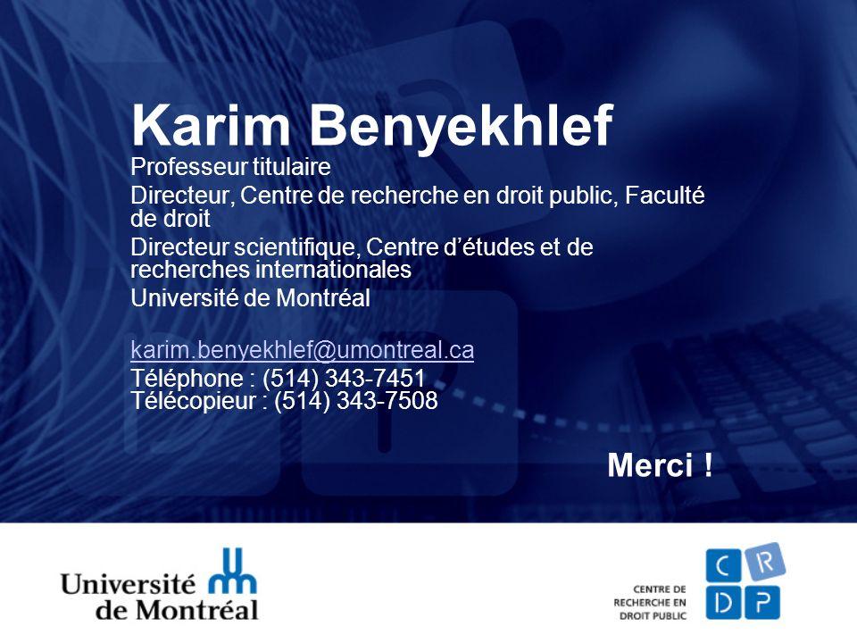 Karim Benyekhlef Professeur titulaire