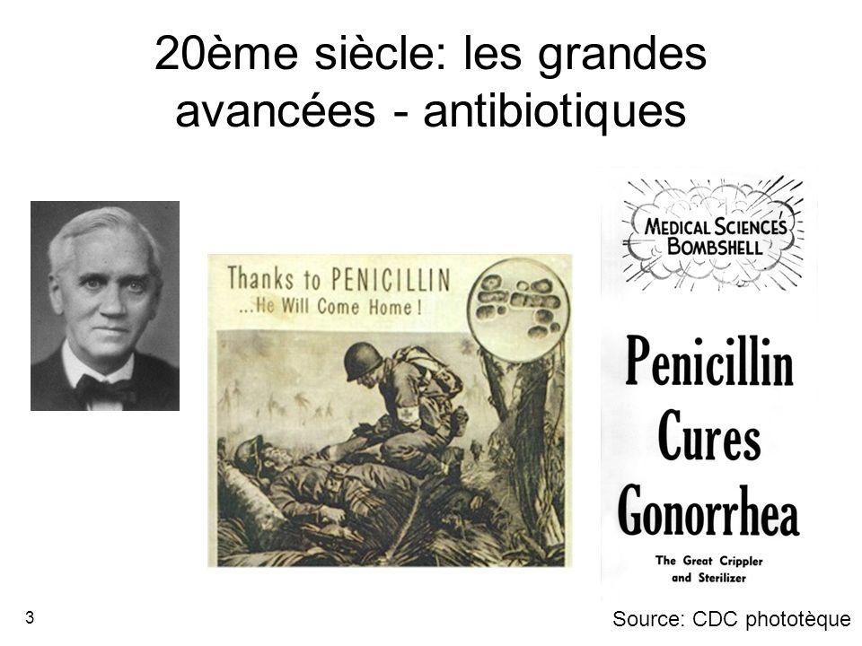 20ème siècle: les grandes avancées - antibiotiques