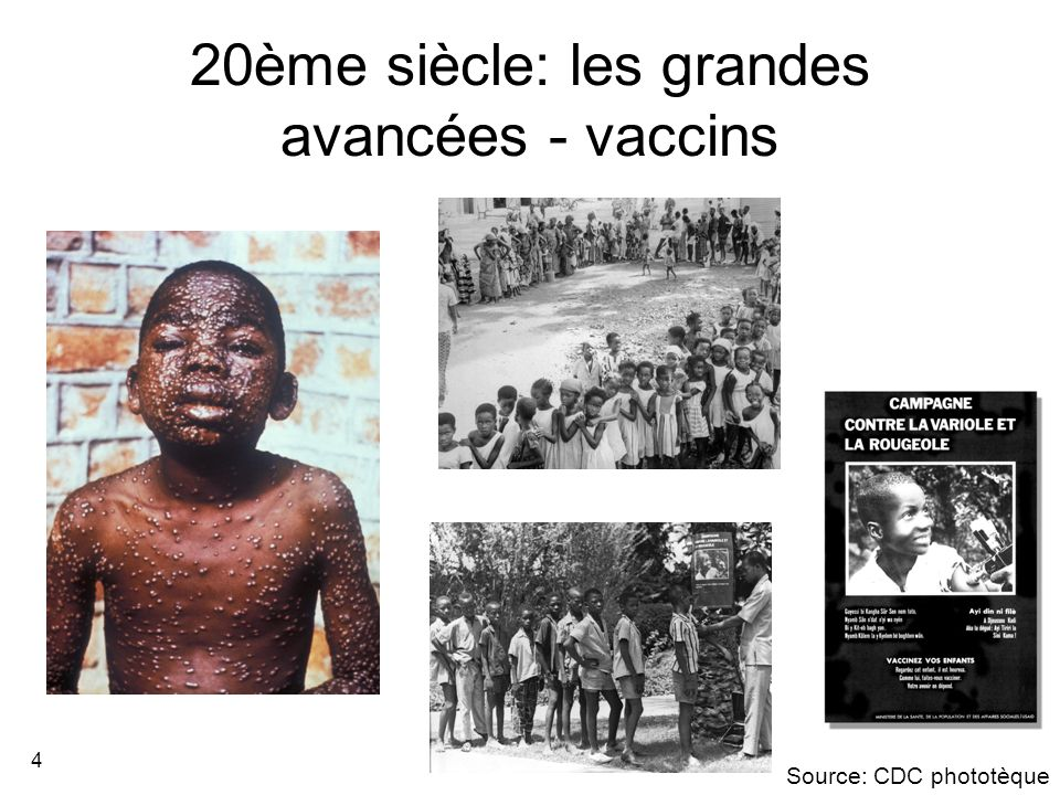 20ème siècle: les grandes avancées - vaccins