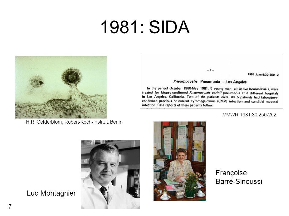 1981: SIDA Françoise Barré-Sinoussi Luc Montagnier