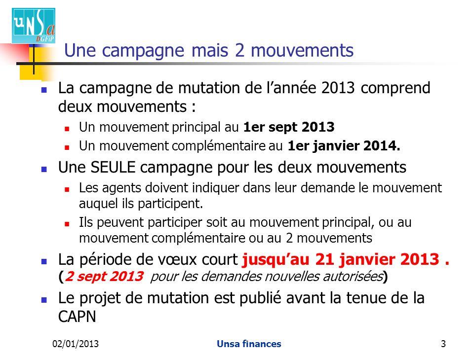 Une campagne mais 2 mouvements