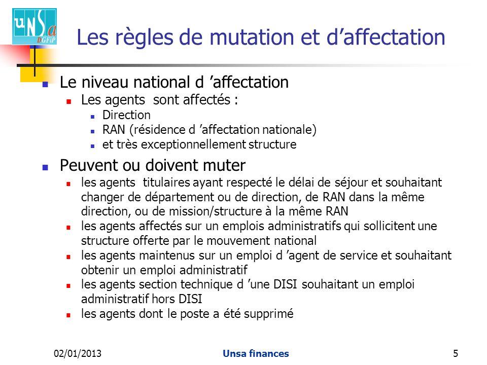 Les règles de mutation et d'affectation