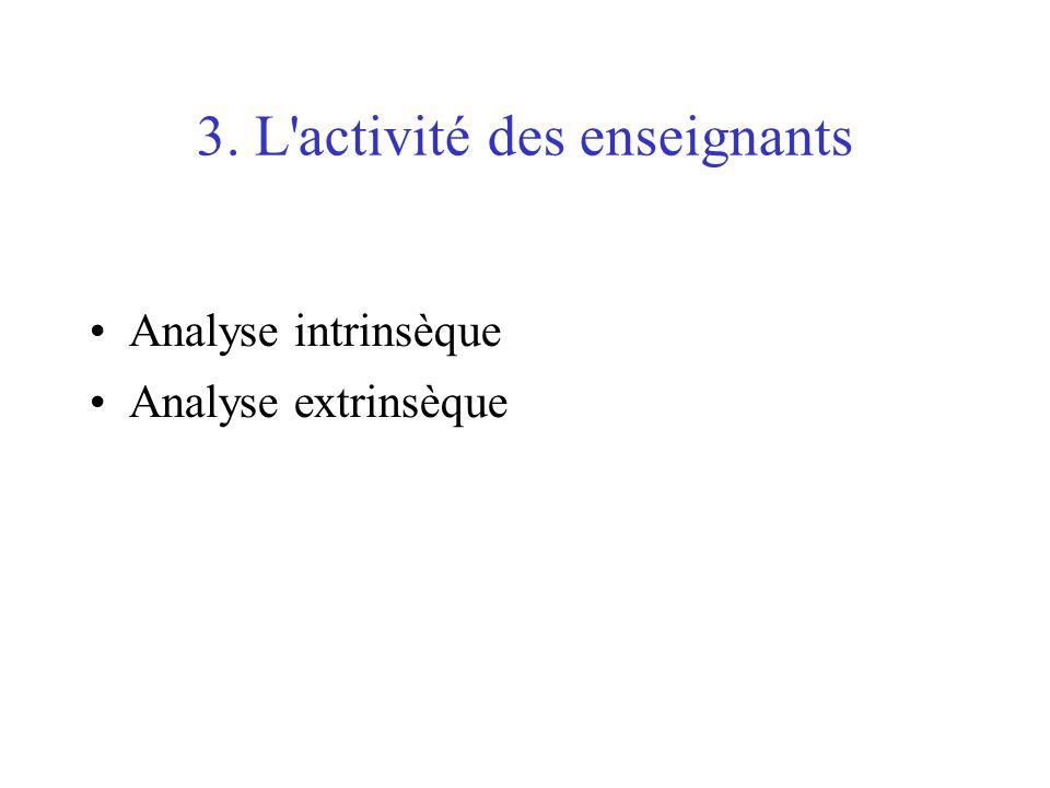 3. L activité des enseignants