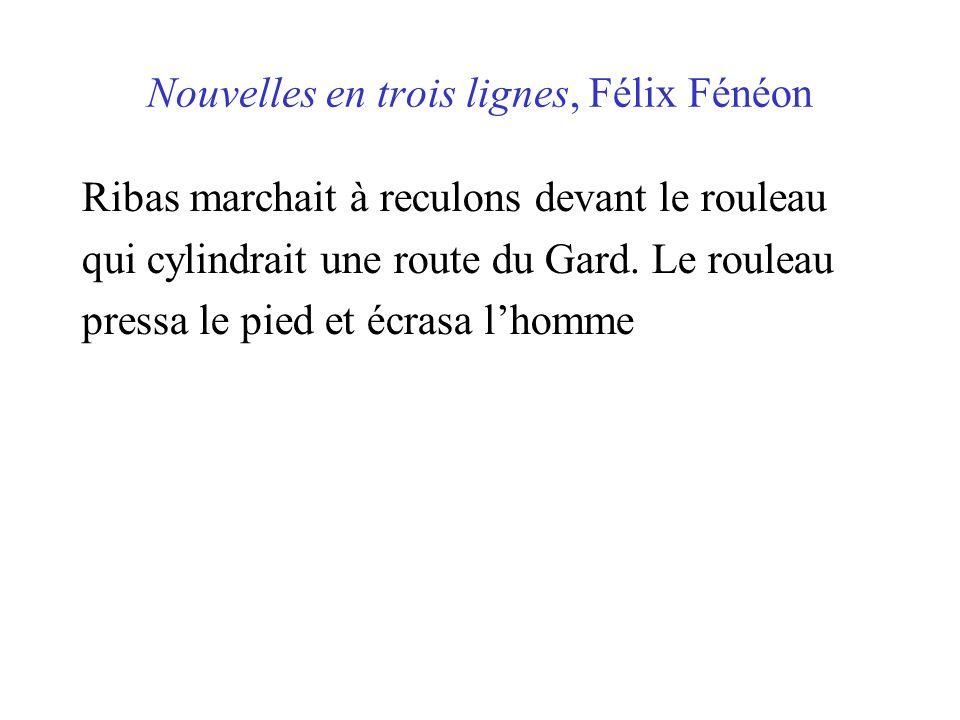 Nouvelles en trois lignes, Félix Fénéon