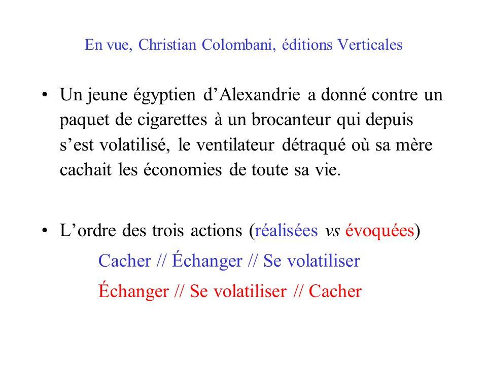 En vue, Christian Colombani, éditions Verticales
