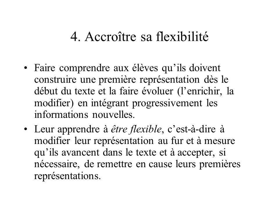 4. Accroître sa flexibilité