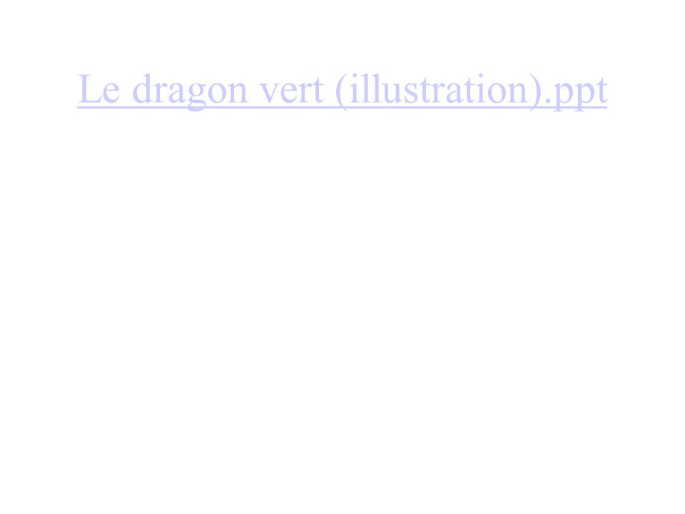 Le dragon vert (illustration).ppt