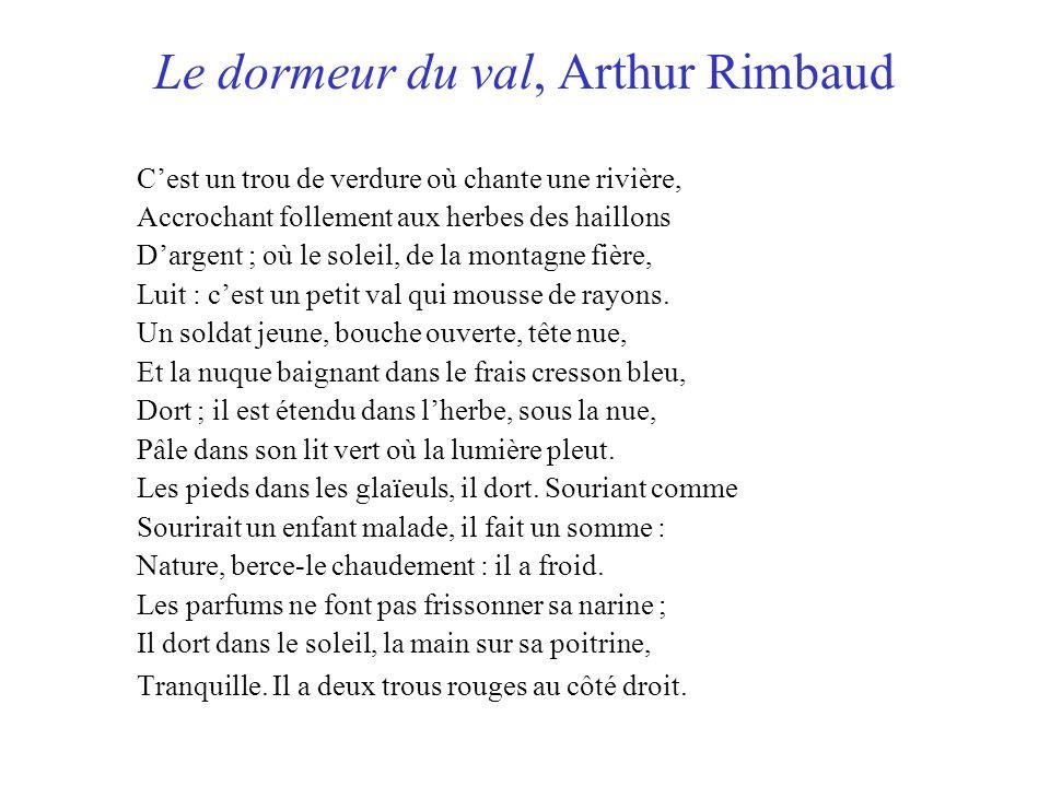 Le dormeur du val, Arthur Rimbaud