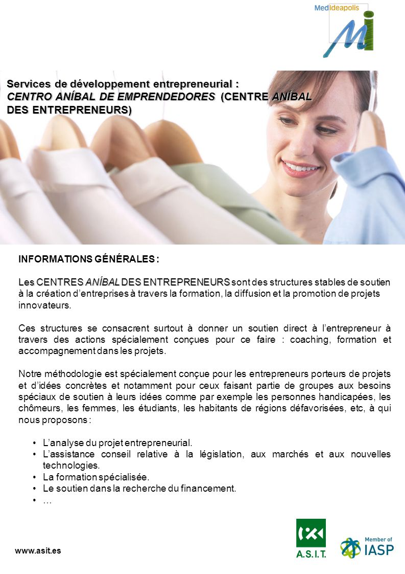 Services de développement entrepreneurial :