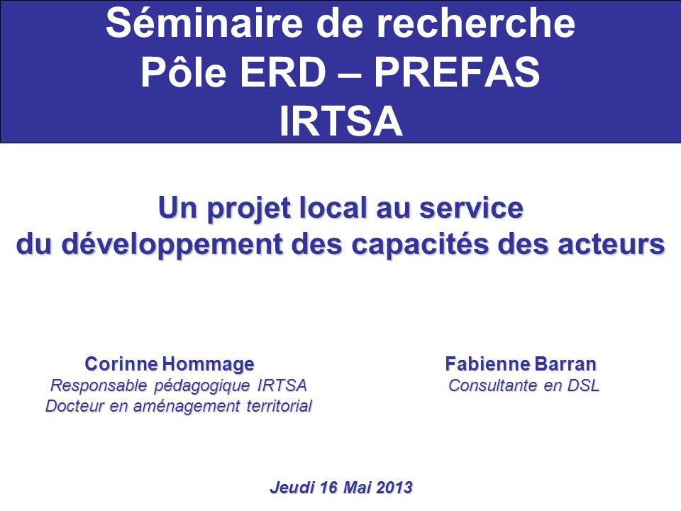 Séminaire de recherche Pôle ERD – PREFAS IRTSA