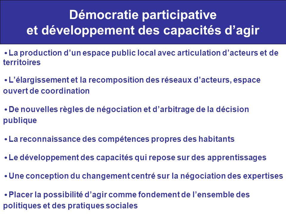Démocratie participative et développement des capacités d'agir