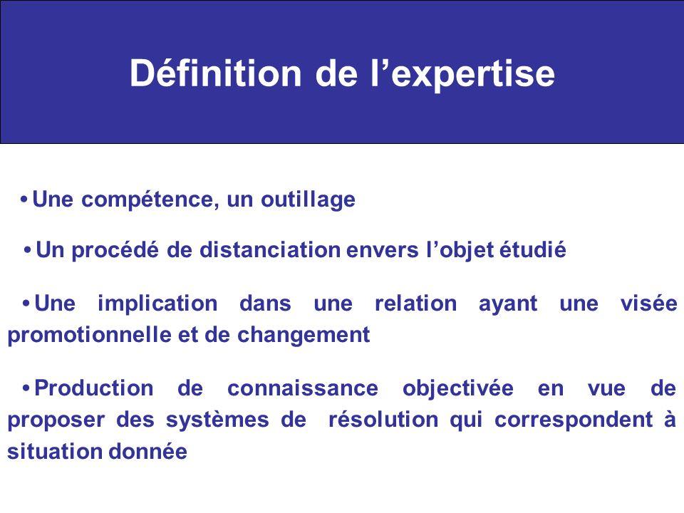 Définition de l'expertise