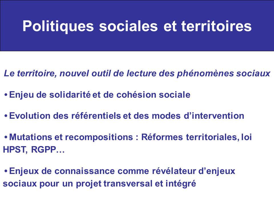 Politiques sociales et territoires