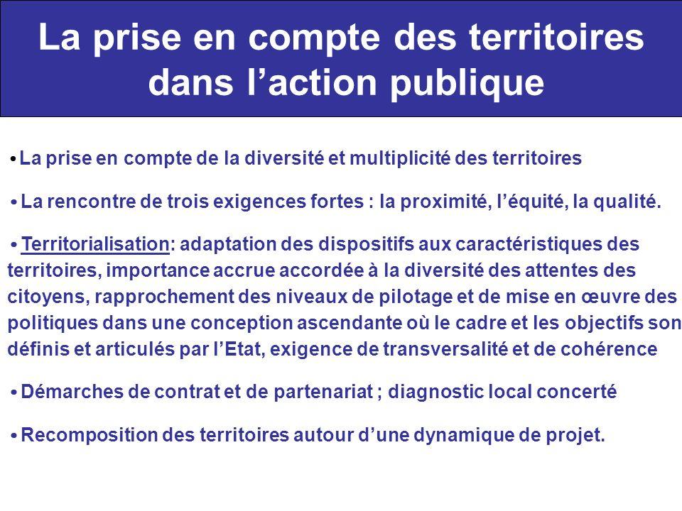 La prise en compte des territoires dans l'action publique