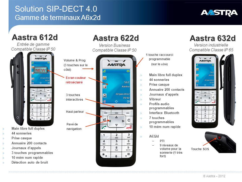 Solution SIP-DECT 4.0 Gamme de terminaux A6x2d