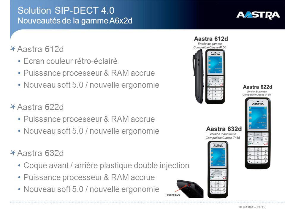 Solution SIP-DECT 4.0 Nouveautés de la gamme A6x2d