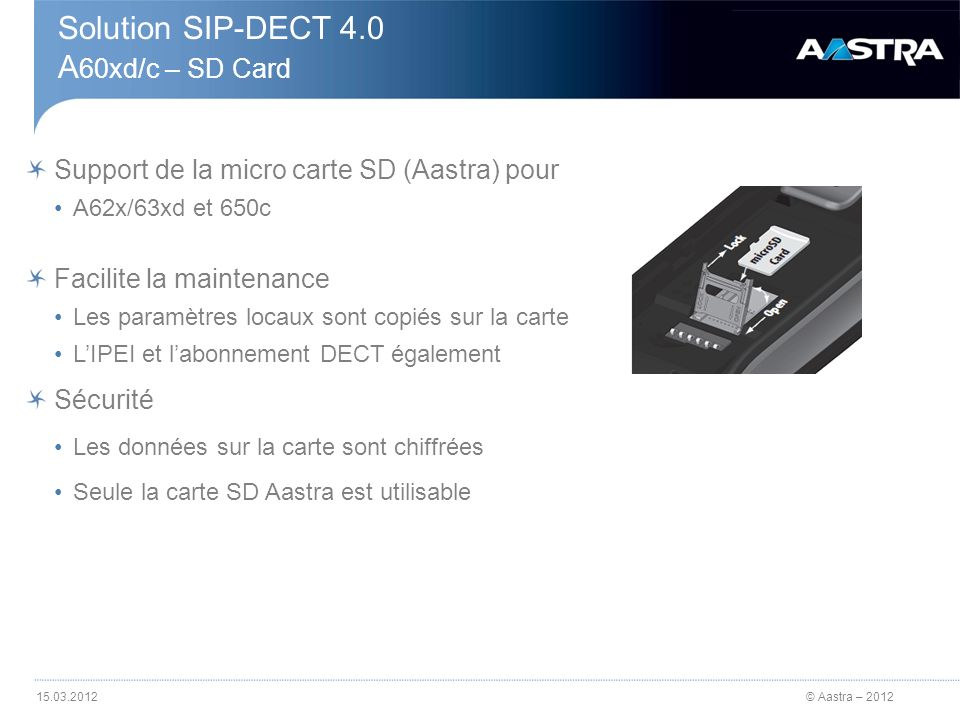 Solution SIP-DECT 4.0 A60xd/c – SD Card