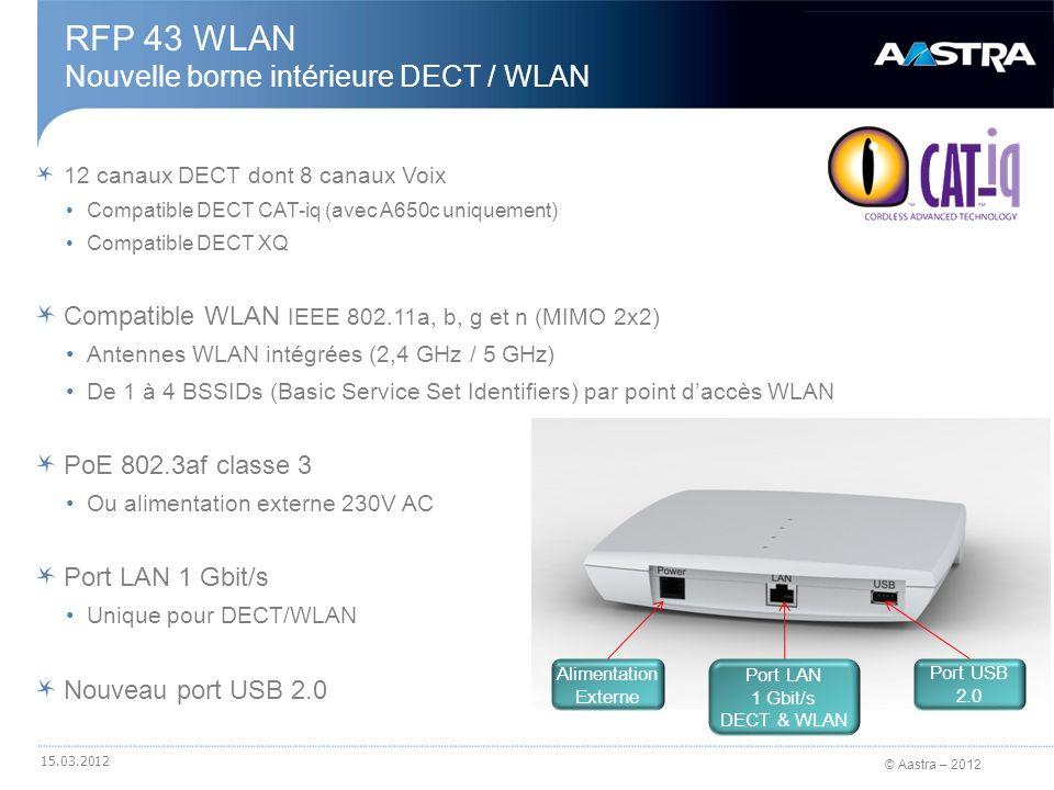 RFP 43 WLAN Nouvelle borne intérieure DECT / WLAN