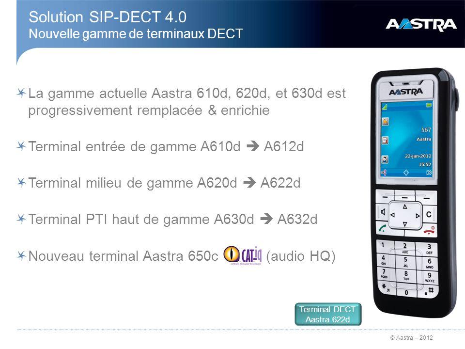 Solution SIP-DECT 4.0 Nouvelle gamme de terminaux DECT