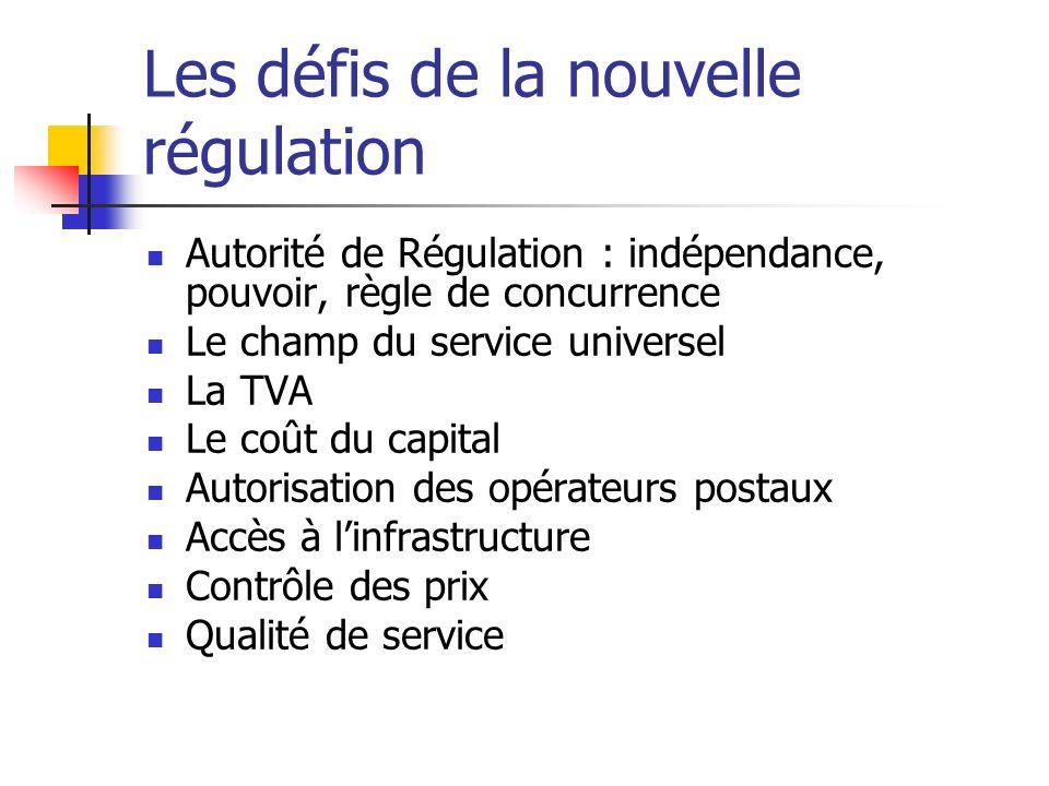 Les défis de la nouvelle régulation