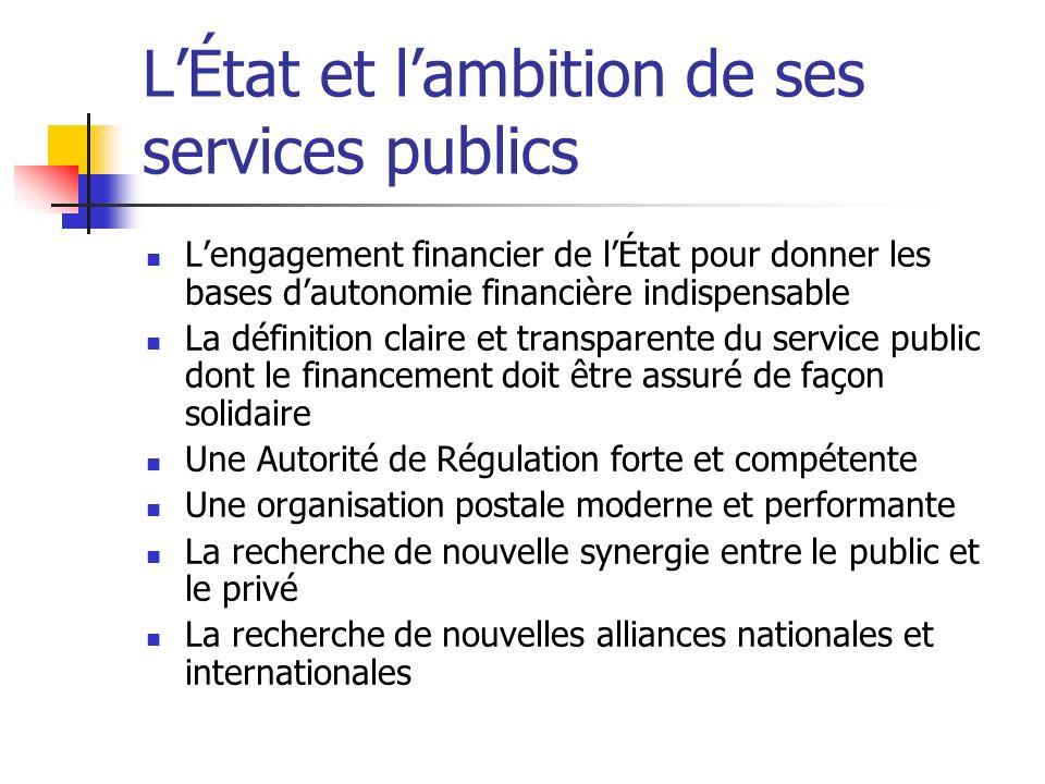 L'État et l'ambition de ses services publics